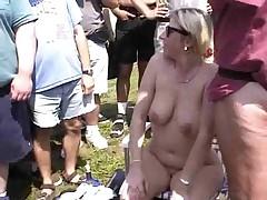 Fun at a Nudist rally