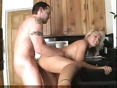 Amateur mature sex in kitchen