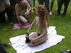 Fun at a Nudist rally