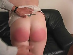 Cute amateur spanking