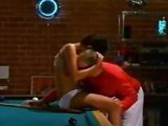 Couple fuck on pool table