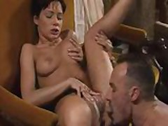 Super hot babe takes down two dicks
