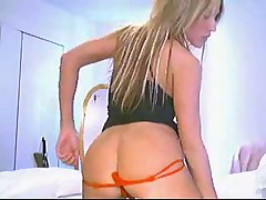 Hot model on webcam