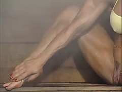 Mature muscle alone in sauna