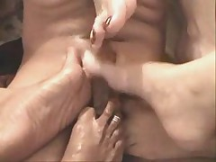 3 Latinas Give A Footjob
