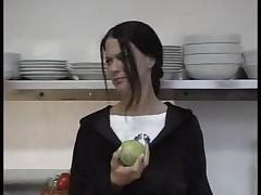 Teen fucked in kitchen