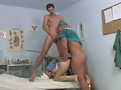 Doctors and Nurses Banging-Bisexual MMF