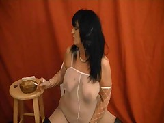 Hot Smoking Mature In High Boots