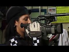 British slut Sahara Knite gets fucked in a garage in boots
