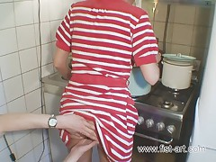 Fistting in the kitchen