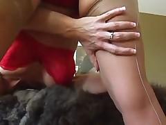 Tiffany Mynx Stockings and Foot Job