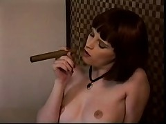 Smoking lesbian