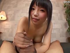 Pantyhose sex hand sex dildo cock handjob