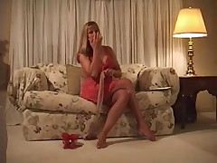 Milf Putting on Pantyhose