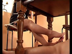 Sheer Nylons Footjob