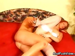 Redhead Bride Anal Fucked And Creamed On!