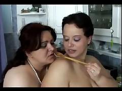 Bbw kitchen lesbians