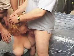 Granny threesome YPP