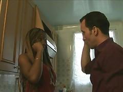 French Ebony Nalya Fucked While Viewing House part 1