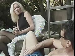 Hot Mature Blonde Cougar Dallas Banging Poolside