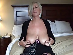 Blonde Granny Blowjob and Breast Relief