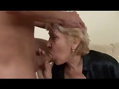 Beefy Granny in Stockings Fucks