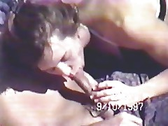 Vintage Beach Blowjob