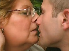 Chubby Granny Loves Younger Cock