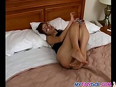 Small tits babe gives best head