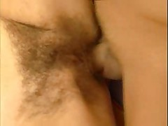Hairy Granny Gets Pussy Creamed !