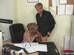 Fucking with my mature boss lady