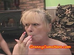 Granny swallows CUM and EATS OUT Best friends DAUGHTER