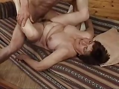 Younger dude does older woman