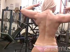 Blonde Muscle Workout