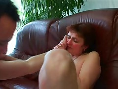 Granny sucks after fuck
