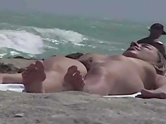 Beautiful Naked Woman Beach