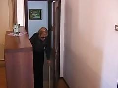Italian granny is fucked in shower