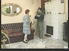 Granny in White Stockings Fucks