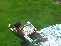 Spy neighbour sunbathe2