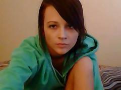 Cute Girl On Webcam