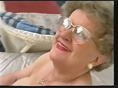 Chubby Old Granny Strips and Plays again